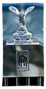 1952 Rolls-royce Hood Ornament Bath Towel
