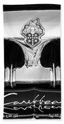 1953 Packard Caribbean Grille Emblem -1217bw Bath Towel