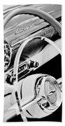 1954 Chevrolet Belair Steering Wheel Emblem -1535bw Bath Towel