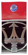 1954 Maserati A6 Gcs Emblem Bath Towel