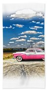 1955 Ford Crown Victoria Crossroads In Life Bath Towel