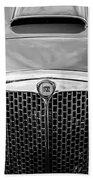 1955 Lancia Aurelia B24 Spyder America Roadster Grille -0278bw Bath Towel
