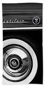 1955 Mercury Montclair Convertible Wheel Emblem Bath Towel