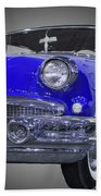 1956 Buick Special Riviera Coupe-blue Bath Towel