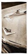 1956 Chevrolet Hood Ornament - Emblem Bath Towel