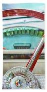 1956 Ford Thunderbird Steering Wheel -260c Bath Towel