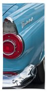1956 Ford Thunderbird Taillight And Emblem Bath Towel