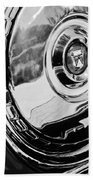 1956 Ford Thunderbird Wheel Emblem -232bw Bath Towel