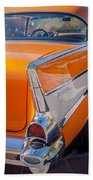 1957 Chevrolet Belair Taillight Emblem -019c Bath Towel