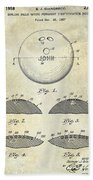 1958 Bowling Patent Drawing Bath Towel