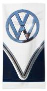 1958 Volkswagen Vw Bus Emblem Bath Towel