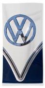 1958 Volkswagen Vw Bus Hood Emblem Bath Towel