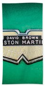 1959 Aston Martin Db4 Gt Hood Emblem -0127c Bath Towel
