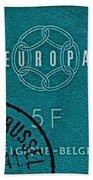 1959 Belgium Stamp - Brussels Cancelled Bath Towel