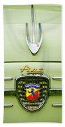 1959 Fiat 600 Derivazione 750 Abarth Hood Ornament Bath Towel