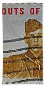 1960 Boy Scouts Stamp Bath Towel