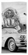 1960 Chevrolet Corvette - B-17 Bomber Bath Towel