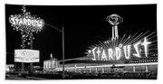 1960s Night Scene Of The Stardust Bath Towel
