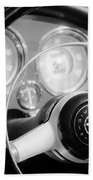 1961 Alfa Romeo Giulietta Spider Steering Wheel Emblem -1239bw Bath Towel