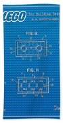 1961 Lego Building Blocks Patent Art 1 Bath Towel