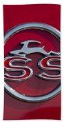 1963 Chevrolet Impala Ss Emblem Bath Towel