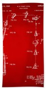 1963 Space Capsule Patent Red Hand Towel