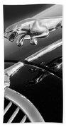 1964 Jaguar Mk2 Saloon Hood Ornament And Emblem Bath Towel