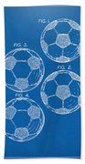 1964 Soccerball Patent Artwork - Blueprint Bath Towel