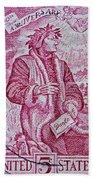 1965 Dante Anniversary Stamp Bath Towel