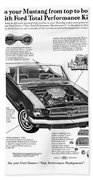 1965 Ford Mustang Performance Kits Bath Towel