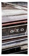 1965 Pontiac Gto Grille Emblem -0442ac Bath Towel