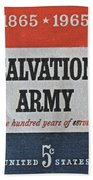 1965 Salvation Army Stamp Bath Towel