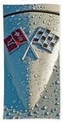 1966 Chevrolet Corvette Sting Ray Hood Emblem Bath Towel
