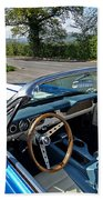 1966 Convertible Mustang On Tour In The Cotswolds Hand Towel