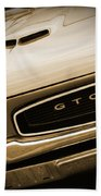 1966 Pontiac Gto In Sepia Bath Towel
