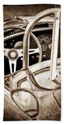 1966 Shelby 427 Cobra Steering Wheel Emblem Bath Towel