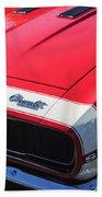1967 Chevrolet Camaro Ss 350 Convertible Hood Emblem Bath Towel