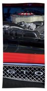 1967 Pontiac Gto Engine Emblem Bath Towel