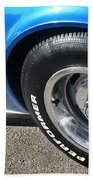 1968 Corvette Sting Ray - Blue - Side - 8923 Bath Towel