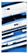 1969 Chevy Camaro Ss - Blue Negative Bath Towel