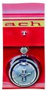 1969 Ford Mustang Mach 1 Rear Emblems Bath Towel