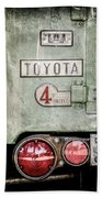 1969 Toyota Fj-40 Land Cruiser Taillight Emblem -0417ac Bath Towel