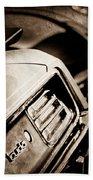 1970 Pontiac Barracuda Cuda Taillight Emblem Bath Towel