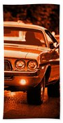 1972 Dodge Challenger In Orange Bath Towel
