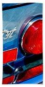 1974 Ferrari Dino Targa Gts Taillight Emblem Bath Towel