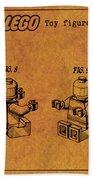 1979 Lego Minifigure Toy Patent Art 6 Bath Towel