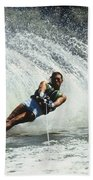 1980s Man Waterskiing Making Fan Hand Towel