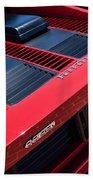 1984 Ferrari 512 Bbi By Pininfarina Rear Emblems -0822c Bath Towel