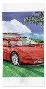 1987 Ferrari Testarosa  Bath Towel