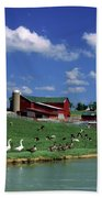 1990s Amish Family Farm Bunker Hill Bath Towel